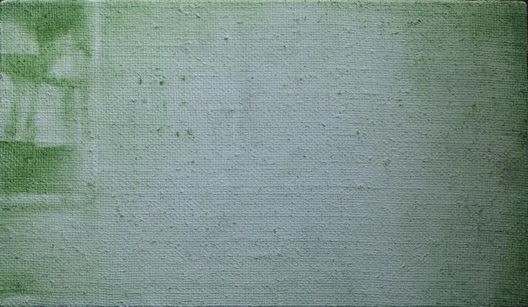 Manchester: 2014, oil on flax linen, 20.5cm x 35.5cm