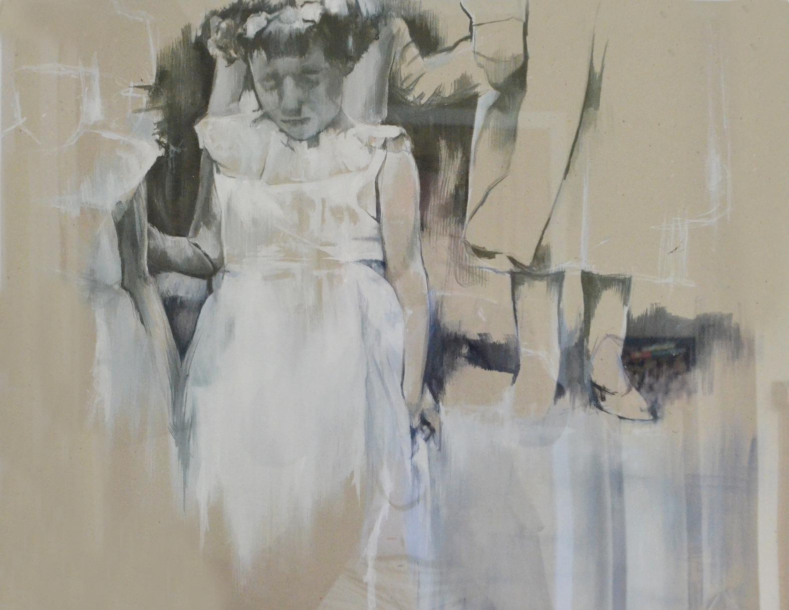 Tess: 2011, acrylic on card, 42cm x 60cm