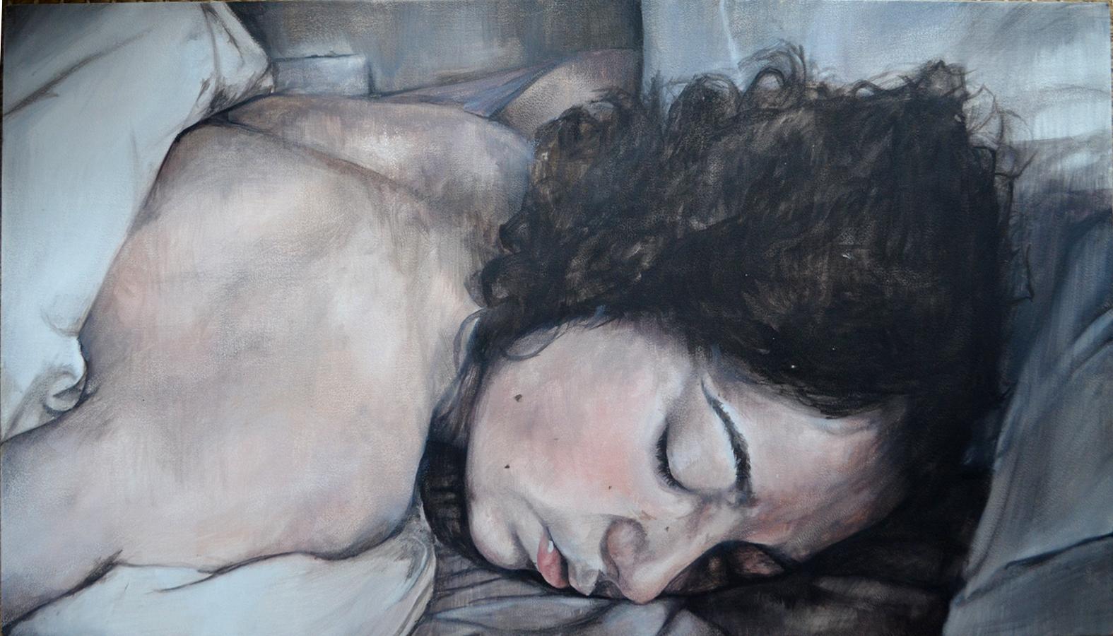 Beth Study, 2012, oil on board, 30.5cm x 54cm
