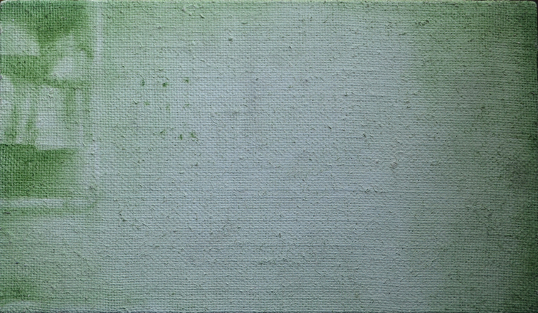 Manchester: 2014, oil on flax linen, 20.5cm x 35.5cm