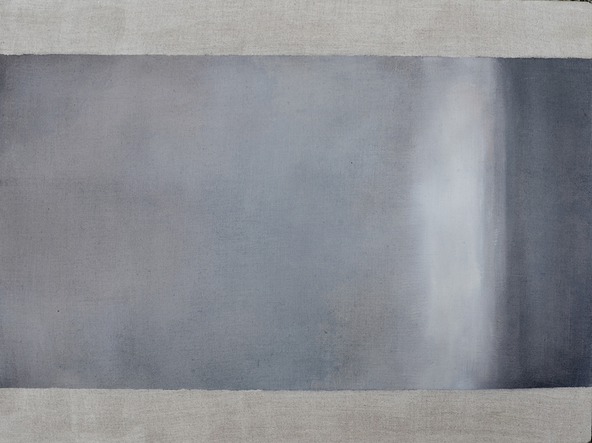 Shadow on the Wall: 2014, oil on flax linen, 46cm x 61cm